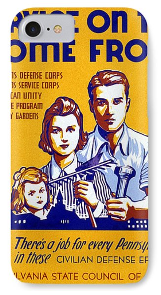World War II Poster, C1943 Phone Case by Granger
