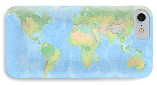 World Watercolor Dream IPhone Case