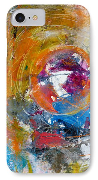IPhone Case featuring the painting Worldly  by Katie Black