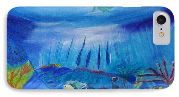 Worlds Below The Sea IPhone Case by Meryl Goudey