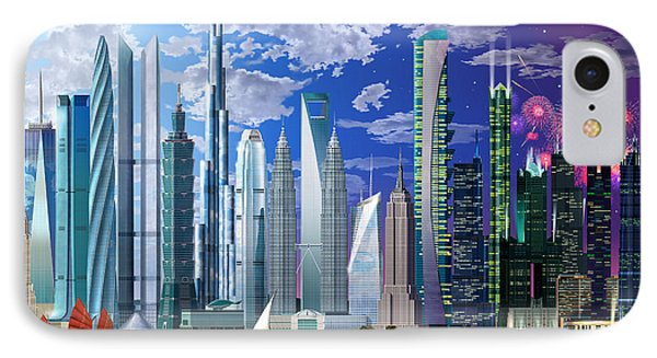 Worlds Tallest Buildings IPhone Case by Garry Walton
