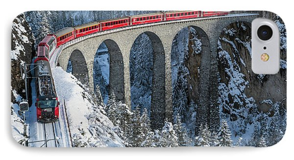 World's Top Train - Bernina Express IPhone Case