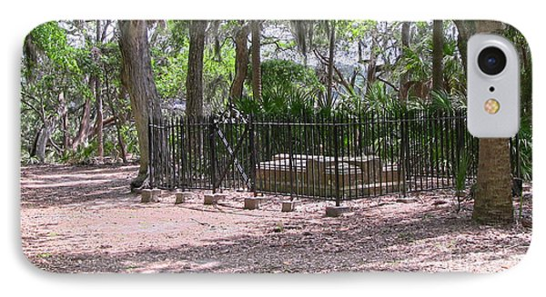 Wormsloe Cemetery Plot IPhone Case by D Wallace