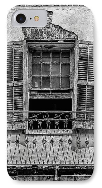 Worn Window - Bw Phone Case by Christopher Holmes