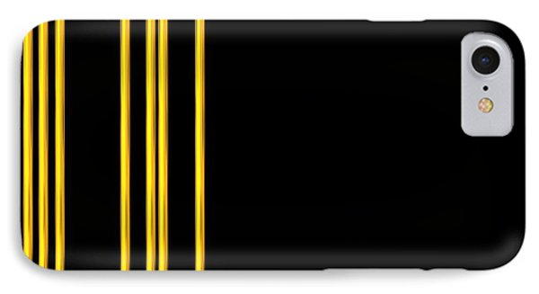 Woven 3d Look Golden Bars Abstract Phone Case by Rose Santuci-Sofranko