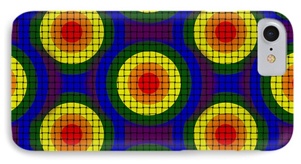 IPhone Case featuring the digital art Woven Circles by Bartz Johnson