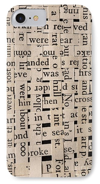 Woven Words IPhone Case by Edward Fielding