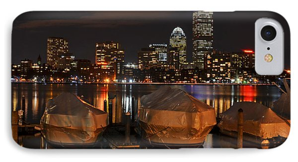 Wrapped Boston Boats For The Winter IPhone Case by Toby McGuire