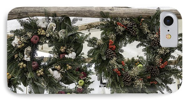 Wreaths For Sale Colonial Williamsburg IPhone Case by Teresa Mucha