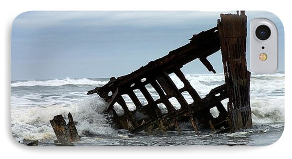 IPhone Case featuring the photograph Wreck Of The Peter Iredale by Chalet Roome-Rigdon