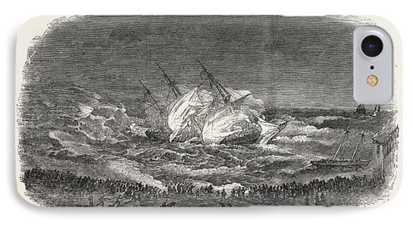 Wreck Of The Troop-ship Charlotte IPhone Case by English School