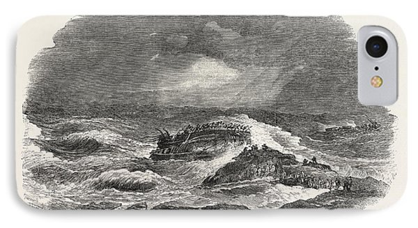 Wreck Of The Troop-ship Charlotte In Algoa Bay 1854 IPhone Case by English School