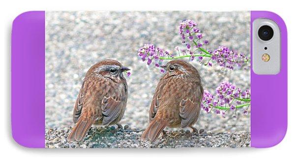 Wren Bird Sweethearts Phone Case by Jennie Marie Schell