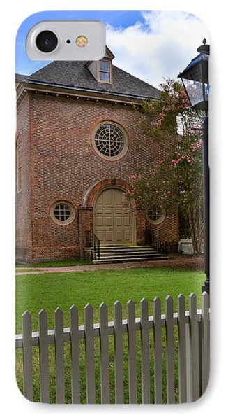 Wren Chapel At William And Mary IPhone Case by Jerry Gammon