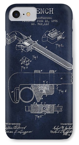 Wrench Patent Drawing From 1896 IPhone Case by Aged Pixel