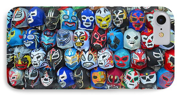 Wrestling Masks Of Lucha Libre Phone Case by Jim Fitzpatrick