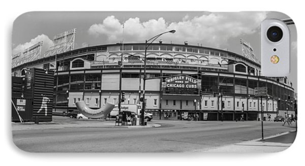 Wrigley Black And White Outside  IPhone Case by John McGraw
