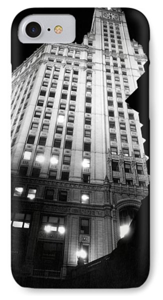 Wrigley Building At Night IPhone Case by Underwood Archives