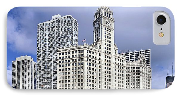 Wrigley Building Chicago Phone Case by Christine Till