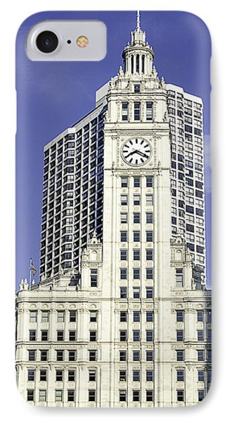 Wrigley Building Chicago IPhone Case by Julie Palencia
