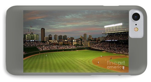 Wrigley Field iPhone 7 Case - Wrigley Field At Dusk by John Gaffen