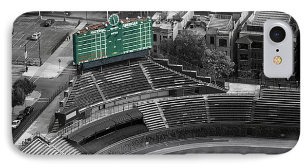 Wrigley Field Chicago Sports 04 Selective Coloring Phone Case by Thomas Woolworth