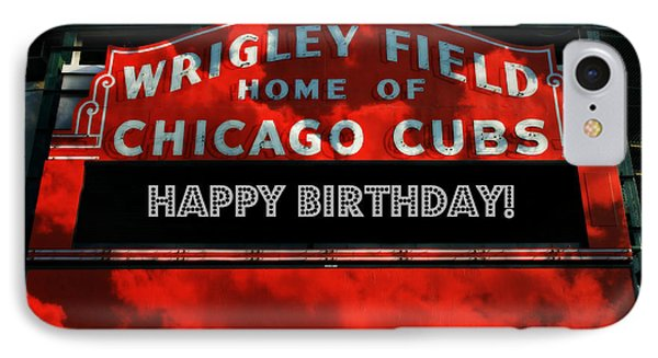 Wrigley Field iPhone 7 Case - Wrigley Field -- Happy Birthday by Stephen Stookey