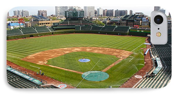100 Years Old -- Wrigley Field In Green IPhone Case by David Bearden