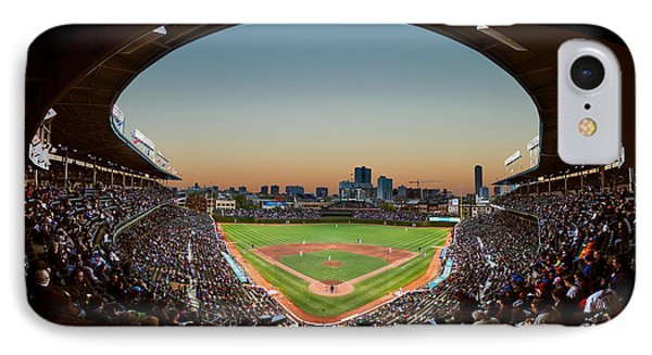 Wrigley Field iPhone 7 Case - Wrigley Field Night Game Chicago by Steve Gadomski