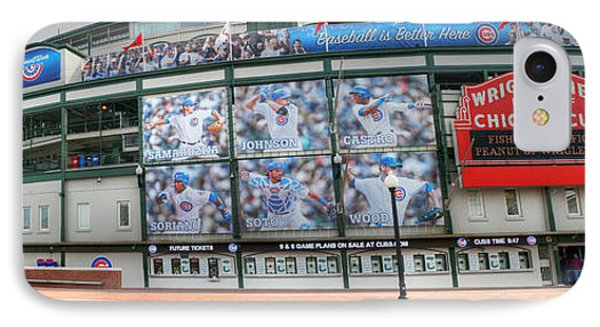 Wrigley Field On Clark IPhone Case by David Bearden