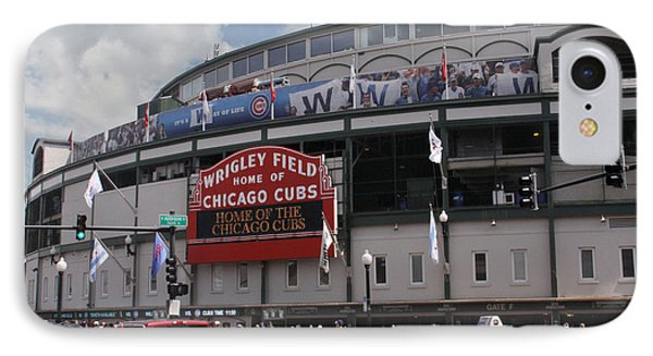 Wrigley Field IPhone Case by Paul Anderson