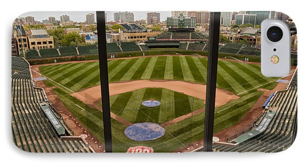 Wrigley Field Press Box IPhone Case by Tom Gort