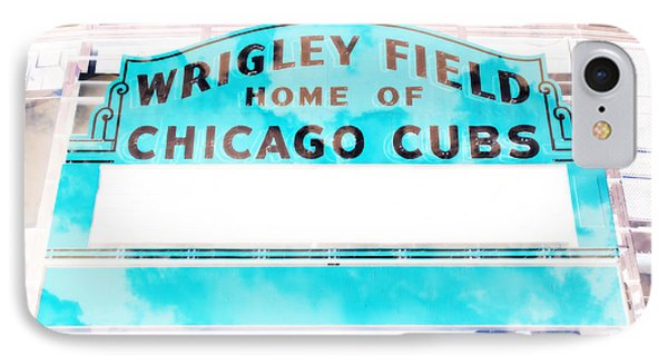 Wrigley Field Sign - X-ray IPhone Case by Stephen Stookey