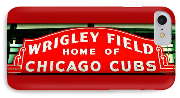 Wrigley Field Sign IPhone Case by Stephen Stookey