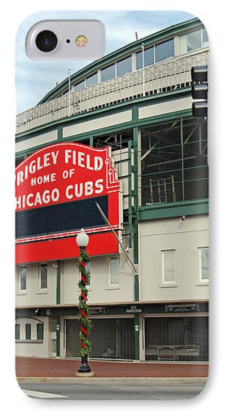 Wrigley Field IPhone Case by Skip Willits