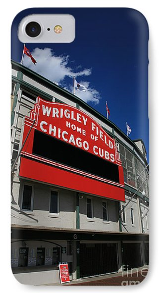 Wrigley Field IPhone Case by Timothy Johnson