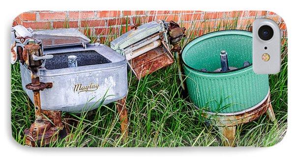 Wringer Washer And Laundry Tub IPhone Case
