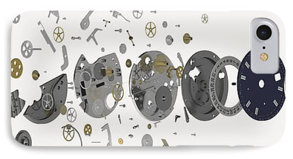 Wristwatch, Exploded-view Diagram IPhone Case