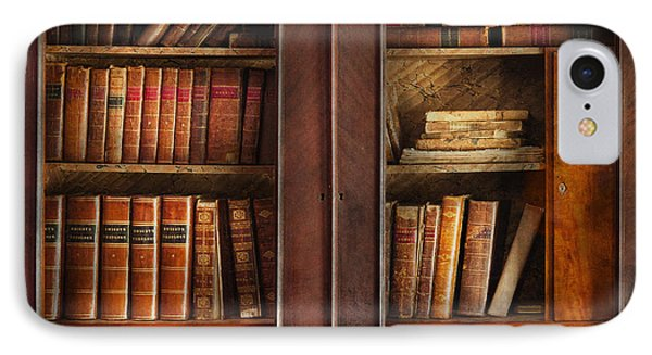 Writer - Books - The Book Cabinet  Phone Case by Mike Savad