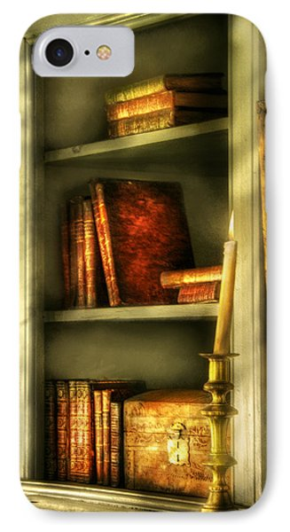 Writer - In The Library  Phone Case by Mike Savad