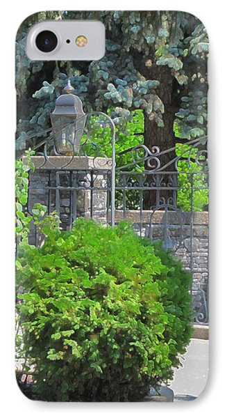 Wrought Iron Gate IPhone Case by Donald S Hall