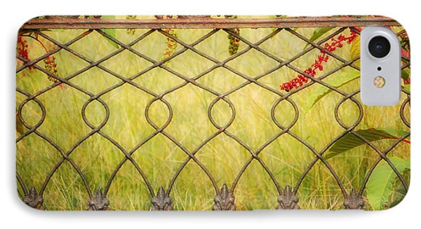 Wrought Iron With Red And Green Phone Case by Kathleen K Parker