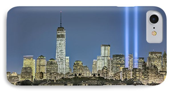 Wtc Tribute In Lights IPhone Case by Susan Candelario
