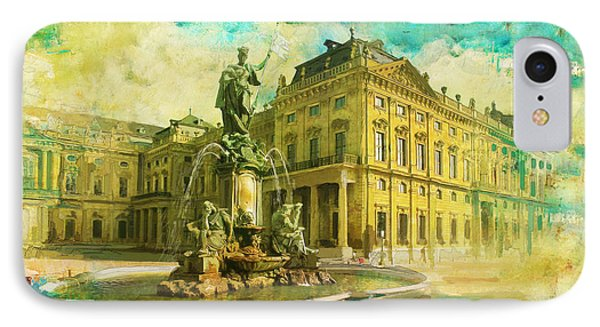 Wurzburg Residence With The Court Gardens And Residence Square Phone Case by Catf