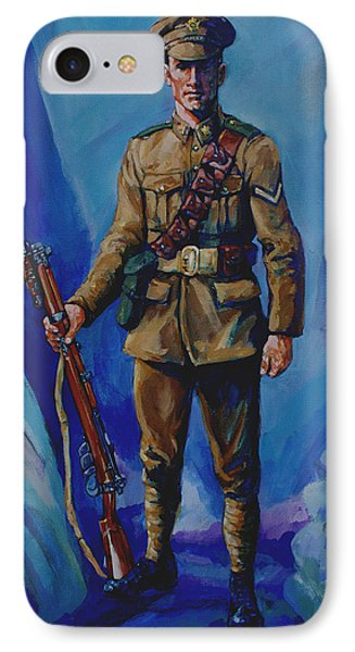 Ww 1 Soldier Phone Case by Derrick Higgins