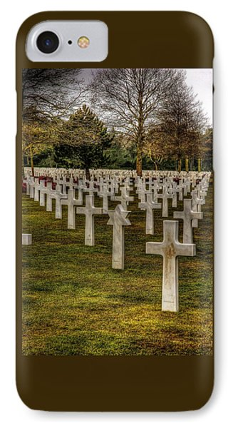 IPhone Case featuring the photograph Ww II War Memorial Cemetery by Elf Evans
