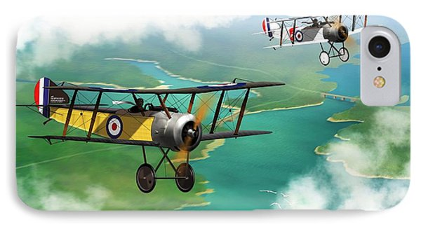 Ww1 British Sopwith Scout IPhone Case by John Wills