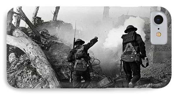 Wwi American Soldiers  IPhone Case by Photo Researchers