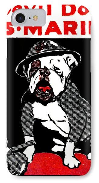 Wwi Marine Corps Devil Dog IPhone Case