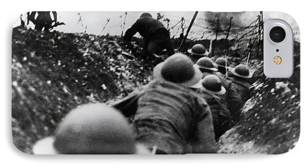 Wwi Over The Top Trench Warfare Phone Case by Photo Researchers